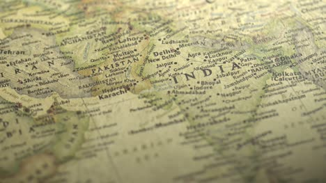 Panning-on-a-Vintage-Map-Across-to-India