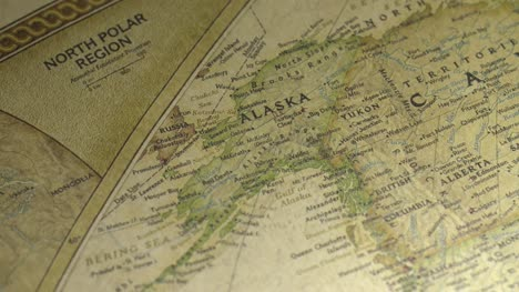 Pan-Across-to-Alaska-on-a-Vintage-Map
