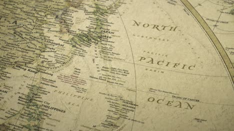 Pan-Across-to-the-North-Pacific-Ocean-on-a-Vintage-Map