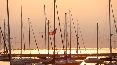 Sailing-Ships-in-Chicago-Sunset