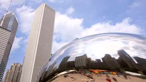 Downtown-Chicago-Reflection-from-Cloud-Gate