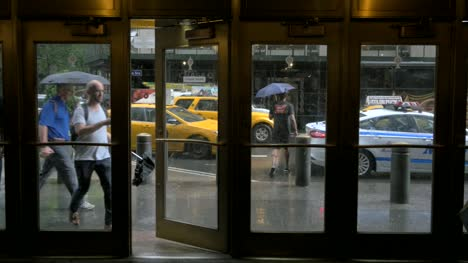 Heavy-Rain-Outside-of-a-Building-in-New-York