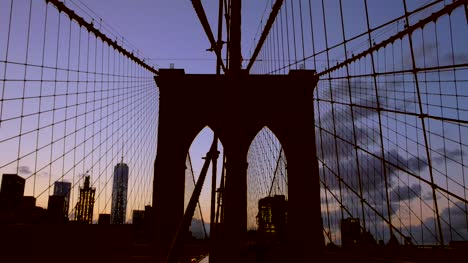 Brooklyn-Bridge-Silhouetted-In-the-Sunset