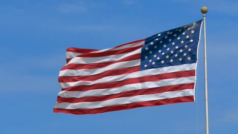 USA-Flag-Flying-in-Harsh-Wind