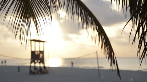 Sunrise-Over-Mexican-White-Sand-Beach