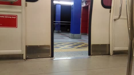 Light-Rail-Train-Door-Closing