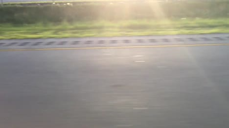 Slow-Motion-Shot-of-Road