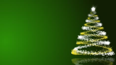 Christmas-Tree-on-Green-Background-Loop