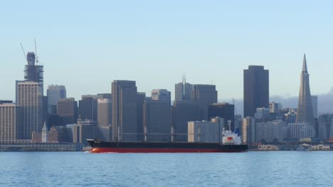 Cargo-Ship-Passing-Downtown-San-Francisco