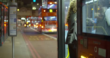 People-Boarding-London-Bus-at-Night