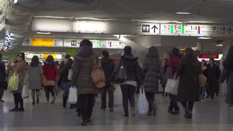 Commuters-in-a-Tokyo-Metro-Station