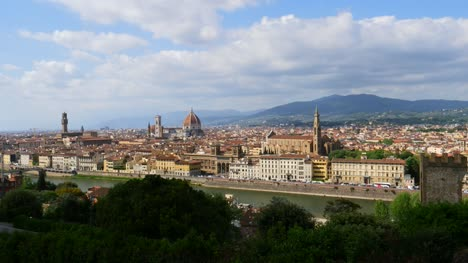 Wide-Angle-Shot-of-Florence-Italy