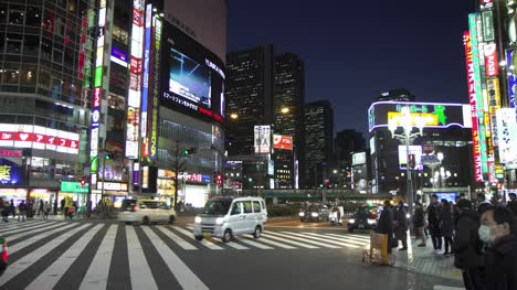 Panning-Across-Downtown-Tokyo-at-Night