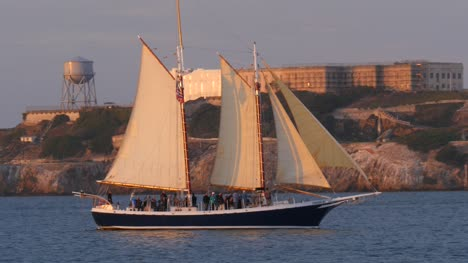 Sailing-Ship-Passing-Alcatraz-Island