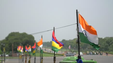 Indian-Flags-Flying-in-Wind