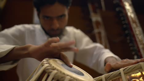 Man-Playing-Tabla