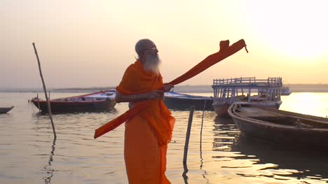 Man-Praying-Over-River-Ganges