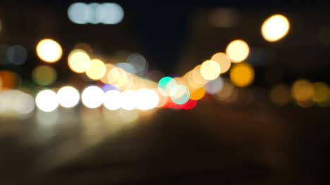 Blurry-Traffic-in-City-at-Night
