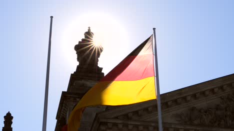 German-Flag-Illuminated-in-Sun