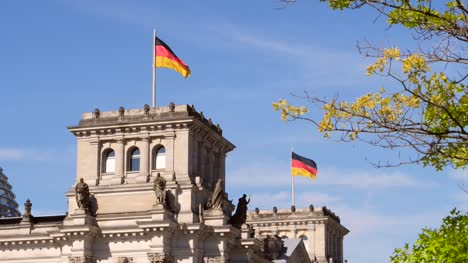 German-Flags-Flying-on-Reichstag-Building