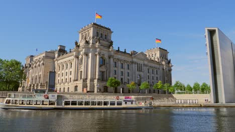 Boat-Passing-Reichstag-Building-Germany
