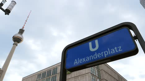 Alexanderplatz-UBahn-Station-Sign