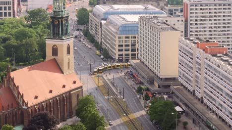 Trams-Crossing-Intersecion-in-Berlin