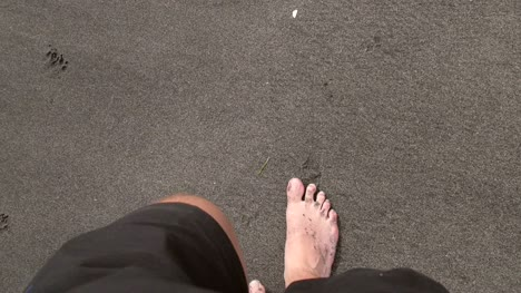 POV-Man-Walking-on-Beach