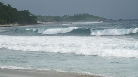 Waves-Crashing-along-Overcast-Indonesian-Coast