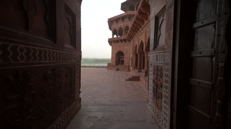 Panning-Shot-Through-a-Corridor-in-India