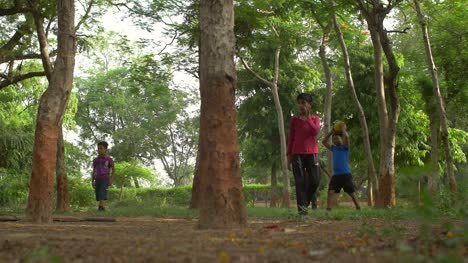 Game-of-Football-Amongst-Some-Trees-in-India
