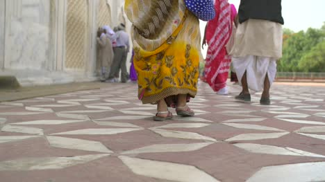 Shot-of-an-Indian-Womans-Feet-Walking