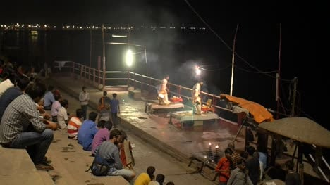 Reveal-Shot-of-Men-Performing-Fire-Ceremony