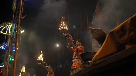 Indian-Men-Waving-Ceremonial-Candelabras