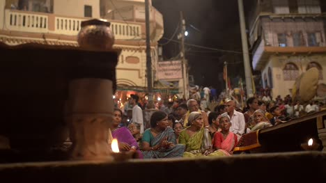 Crowd-Attending-Ganga-Aarti-Ceremony