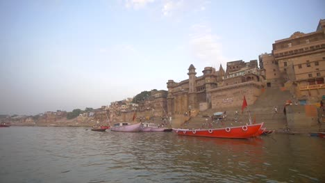 POV-Shot-of-the-Ganges-Ghats-from-the-River