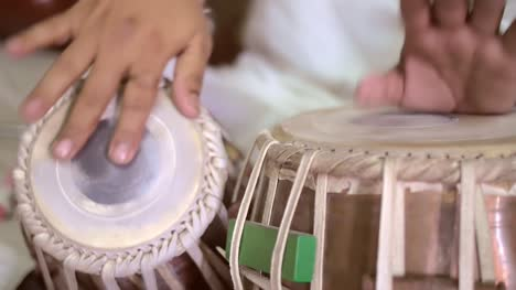 Close-Up-of-Man-Playing-Tabla-Drums
