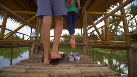 Couple-Entering-Yoga-Hut-2