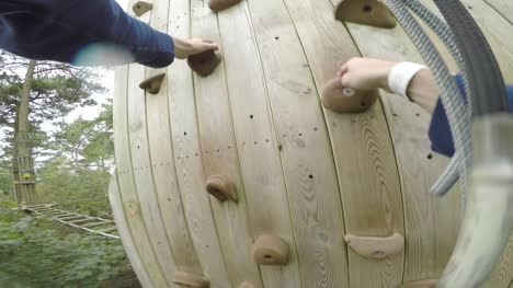 POV-Shot-Climbing-Rock-Wall