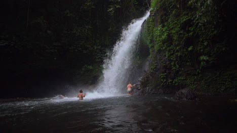 Bathers-Under-a-Waterfall