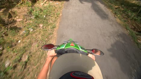 POV-Riding-a-Moped-Through-the-Jungle