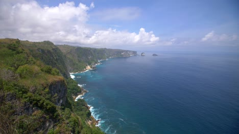 View-of-the-Indonesian-Coast-from-a-Grassy-Cliff
