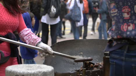 Cooking-Chestnuts-at-Street-Stall