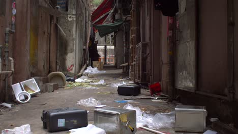 Moving-Down-Dirty-Alley-in-Hong-Kong