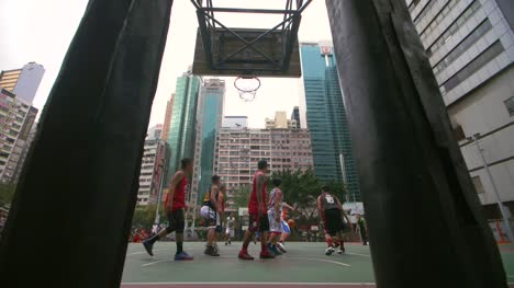 Basketball-Players-on-a-Court-in-Hong-Kong