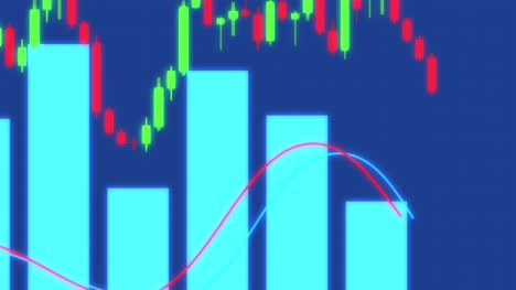 Animated-Looping-Graphs-and-Trading-Candlesticks