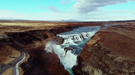 Aerial-View-of-Gullfoss-Waterfall