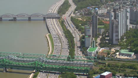 Looking-Down-at-Highway-in-Seoul