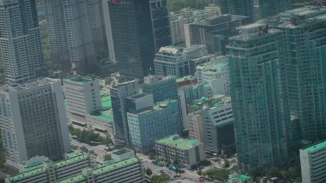 Rotating-Shot-of-Skyscrapers-in-Seoul