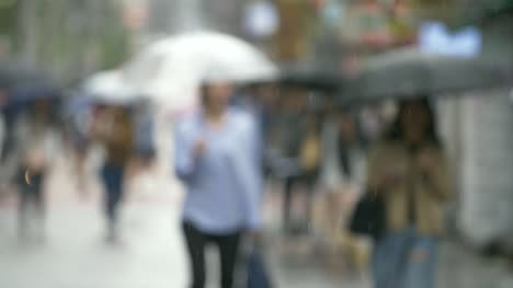 Out-of-Focus-Shot-of-People-in-Rain